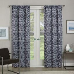 Eclipse Blackout Paloma 84 in. L Charcoal Rod Pocket Curtain