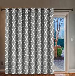 H.Versailtex Blackout Printed Curtains Extra Long and Wide T