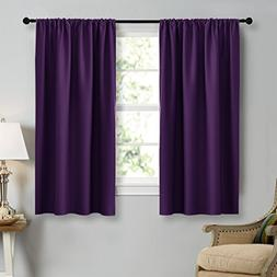 NICETOWN Blackout Purple Curtains for Living Room - Thermal