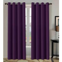 H.VERSAILTEX Blackout Room Darkening Curtains Window Panel D