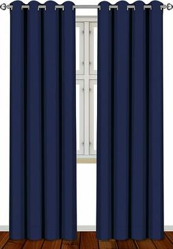 2 Panel Thermal Blackout Room Darkening Curtains Set 52 x 84