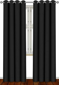 Blackout Room Darkening Curtains Window Blinds 2 Panel Set 5