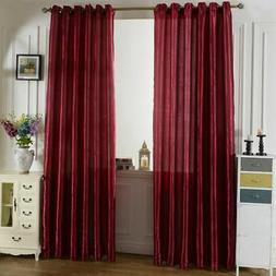 Blockout Curtains Eyelet Pure Solid Washable Blackout Home D