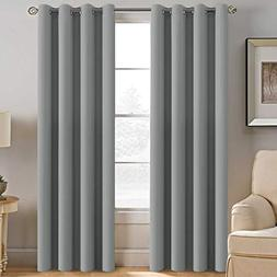 H.VERSAILTEX Grey Blackout Curtains for Bedroom Thermal Insu
