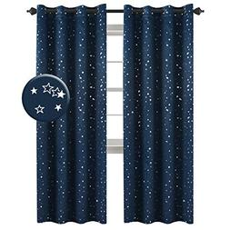 H.VERSAILTEX Blackout Star Curtains for Boys Room Ultra Slee