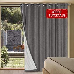 H.VERSAILTEX Rich Linen Patio Curtain Panel Sliding Glass Do