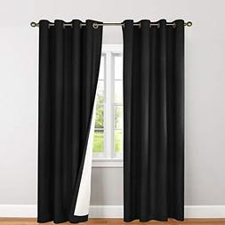 jinchan Blackout Thermal Backed Curtains for Living Room, Li