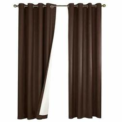 jinchan Thermal Insulated Blackout Curtain, Room Darkening L
