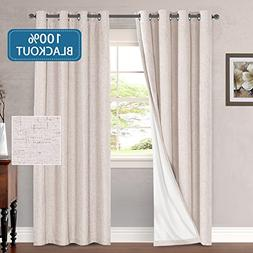 H.VERSAILTEX 100% Blackout Thermal Curtains for Bedroom Ener