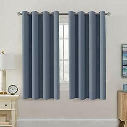 Blackout Thermal Insulated Curtains 63 Inche Length Light Bl