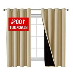 Flamingo P 100% Blackout Curtains 63 Length for Bedroom Lind