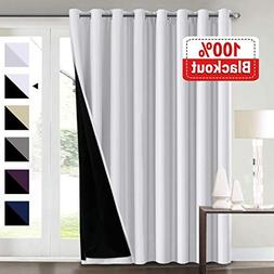 Flamingo P Extra Wide Blackout Curtains White 100 x 84 for B