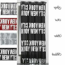 Evideco Blackout Window Curtain Panel Design NEW YORK CITY w