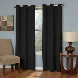 Blackout Window Curtain Thermaback Microfiber Grommet Polyes