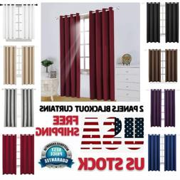 blackout window curtains drapes 2 panel insulated