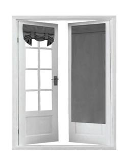 Blackout Window Door Curtains, Deep Grey  for Double French