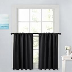PONY DANCE Blackout Curtain Tiers - Window Treatment Rod Poc