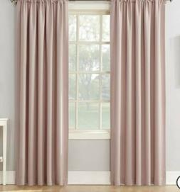 Sun Zero Blush Pink Emory 2pk Room-Darkening Rod-Pocket Curt