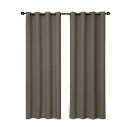 Eclipse 12966052063PWT Bobbi 52-Inch by 63-Inch Grommet Blac