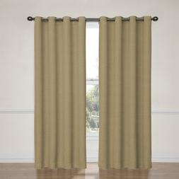 Eclipse 12966052063TAN Bobbi 52-Inch by 63-Inch Grommet Blac