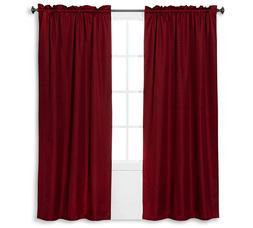 """Braxton Thermaback Light Blocking Curtain Panel Red 42"""" x 63"""