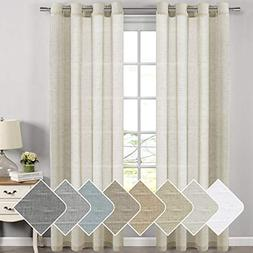 Living Room Curtains Breathable and Airy Semi - Sheers Natur