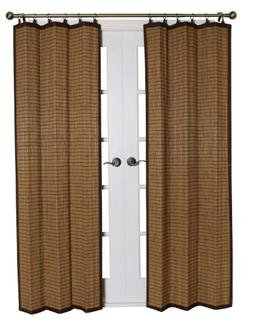 Bamboo BRP074084-11 Bamboo Ring Top Curtain, 40 x 84- Inches