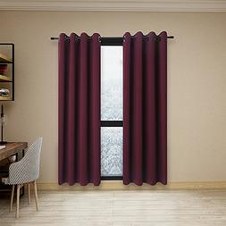 Anjee  Burgundy Blackout Curtains for Bedroom by , Light-Loc