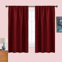 """Burgundy Blackout Curtains and Drapes - Thermal 42"""" W X 63"""""""