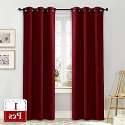 NICETOWN Burgundy Insulated Blackout Curtain Home Decoration