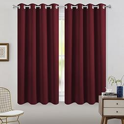 FLOWEROOM Blackout Curtains Thermal Insulated Draperies with