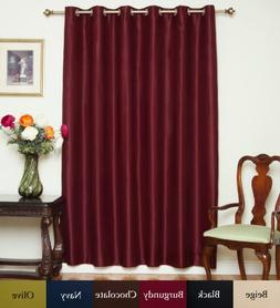 Blackout Curtain Burgundy Wide Width Nickel Grommet Top Ther