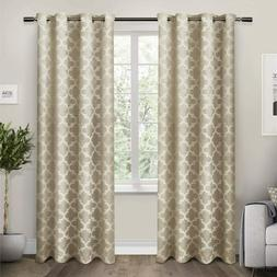 Exclusive Home Curtains Cartago Insulated Woven Blackout Gro