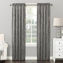 Sun Zero Cassidy Textured Velvet Blackout Rod Pocket Curtain