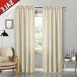Semi Sheer Curtains for Living Room 84 Inches Long Casual We