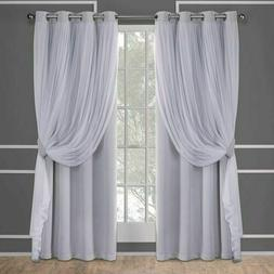 Exclusive Home Curtains Catarina Layered Solid Blackout and