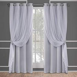 Exclusive Home Catarina Layered Solid Blackout and Sheer Gro