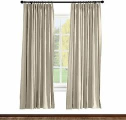 ChadMade Pinch Pleated Curtain 100W x 84L Inch Solid Thermal