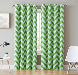 HLC.ME Chevron Print Thermal Insulated Blackout Window Curta