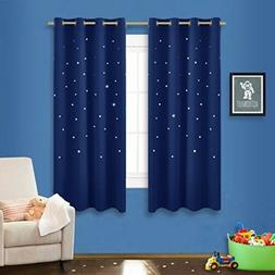 Children Blackout Curtain Outer Space Star Night Sky Bedroom