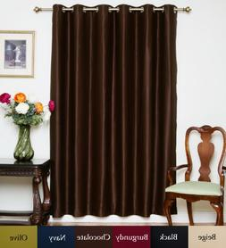 Blackout Curtain Chocolate Wide Width Nickel Grommet Top The