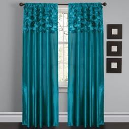 Circle Dream Curtain Panel , Turquoise