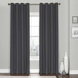 Eclipse Clara Thermaweave Blackout Window Curtain Panel, 52""