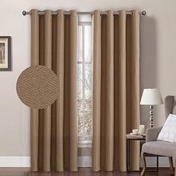 H.VERSAILTEX Linen Blackout Curtains 96 Inches Room Darkenin