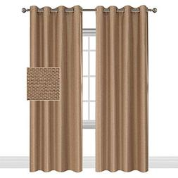 Classical Thermal Insulated Faux Linen Textured Room Darkeni