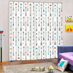Colorful Arrow Shower 3D Curtain Blockout Photo Printing Cur