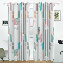 ALIREA Colorful Arrows Blackout Curtains Darkening Thermal I
