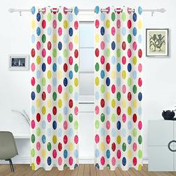 AIDEESS Colorful Polka Dot Room Darkening Thermal Insulated