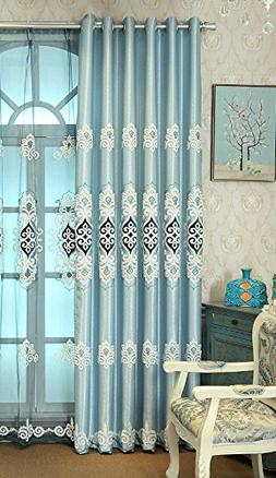 Cotton and Linen Curtain Blackout Insulation European Style