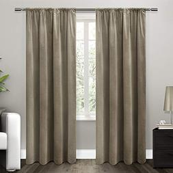 Exclusive Home Curtains Cotton Velvet with Blackout Lining R